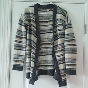 Neutral Open Front Cardigan